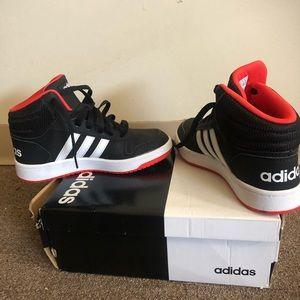 Adidas Kids Hoops 2.0 Mid Basketball Shoes big boy